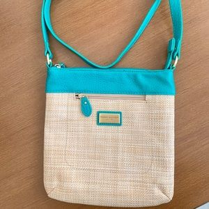 Tommy Hilfiger Green Straw Crossbody Purse
